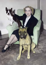 Elizabeth Parrish with dogs